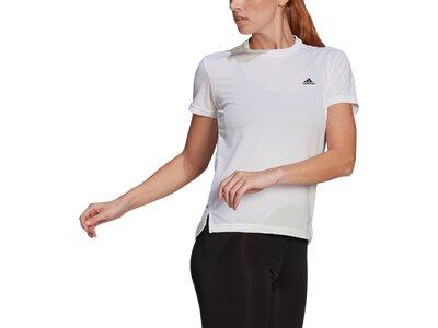 adidas Damen AEROREADY Designed 2 Move Sport 3-Streifen T-Shirt Weiß