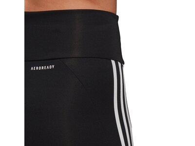 adidas Damen Designed To Move High-Rise 3-Streifen Sport 3/4-Tight Schwarz