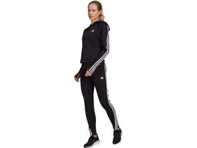 ADIDAS Fußball - Textilien - Anzüge Slim Fit Trainingsanzug Damen Schwarz