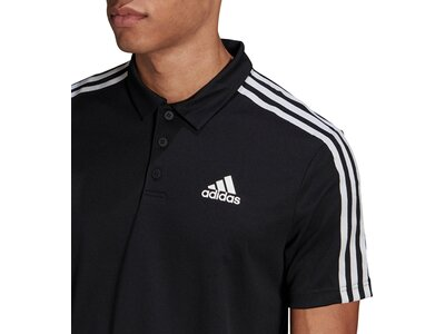 adidas Herren Primeblue Designed To Move Sport 3-Streifen Poloshirt Schwarz