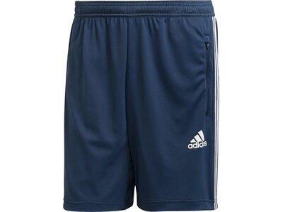 adidas Herren Primeblue Designed To Move Sport 3-Streifen Shorts Blau