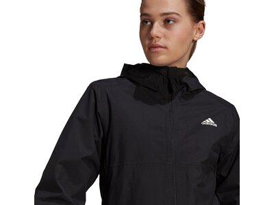 adidas Damen BSC 3-Streifen RAIN.RDY Regenjacke Schwarz