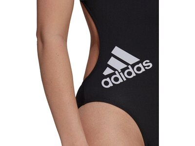 adidas Damen Logo Badeanzug Schwarz