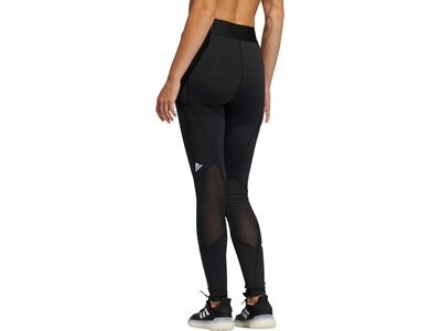 adidas Damen Tights TECHFIT LIFE MID-RISE BADGE OF SPORT Schwarz