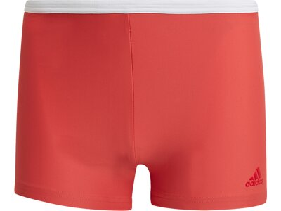 ADIDAS Badehose FIT WHITE 3S BX Rot