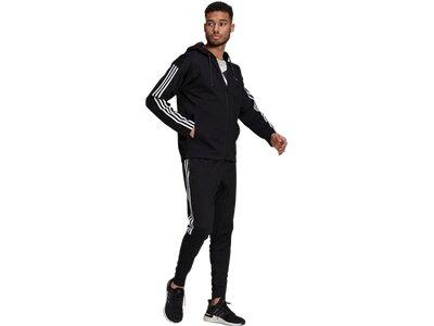 adidas Herren Sportswear Ribbed Insert Trainingsanzug Schwarz