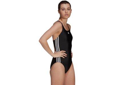 adidas Damen SH3.RO Classic 3-Streifen Badeanzug Schwarz