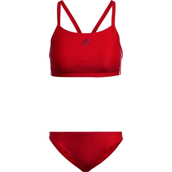 Bademode - ADIDAS Damen Bikini FIT 2PC 3S › Rot  - Onlineshop Intersport