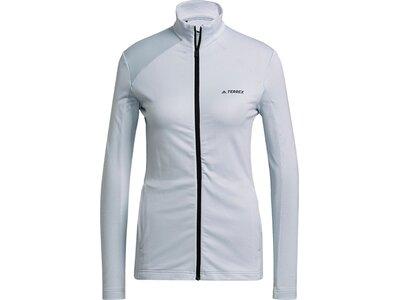 adidas Damen TERREX Multi Primegreen Full-Zip Jacke Grau