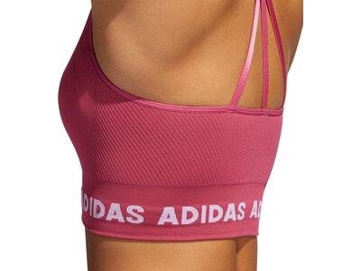 adidas Damen TRAINING BRANDED AEROKNIT BRA Rot