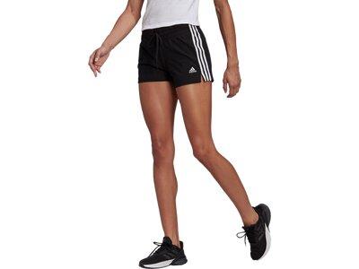 adidas Damen Essentials Slim 3-Streifen Shorts Schwarz