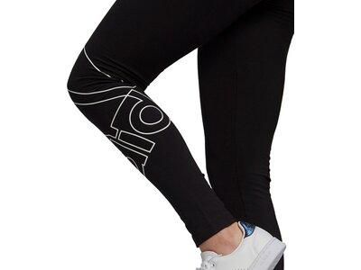"ADIDAS Damen Tight ""Essential Giant Logo"" Schwarz"