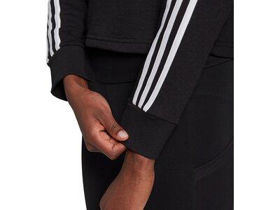 adidas Damen Essentials 3-Streifen Cropped Hoodie Schwarz