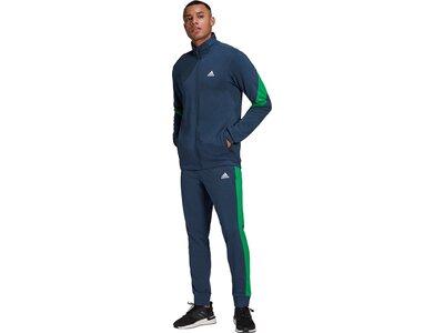 ADIDAS Herren Sportanzug Cotton TS Blau
