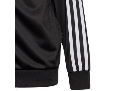 adidas Kinder 3-Streifen Team Trainingsanzug Schwarz