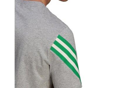 ADIDAS Herren Shirt 3S tape Silber