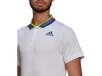 adidas Herren Tennis FreeLift Primeblue HEAT.RDY Poloshirt Weiß
