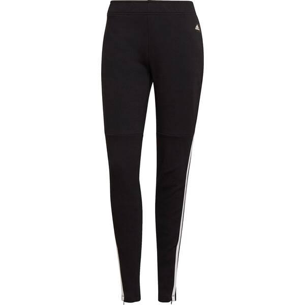 Hosen - adidas Damen Sportswear 3 Streifen Skinny Hose › Schwarz  - Onlineshop Intersport