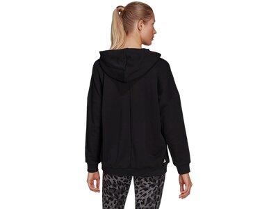 ADIDAS Damen Sweatshirt mit Kapuze Oversized Schwarz