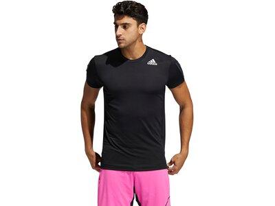 adidas Herren HEAT.RDY 3-Streifen T-Shirt Schwarz