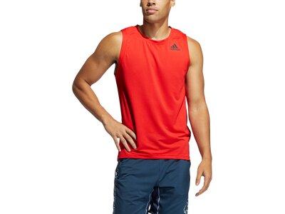 "ADIDAS Herren Shirt ""Aero 3-Streifen"" Ärmellos Rot"