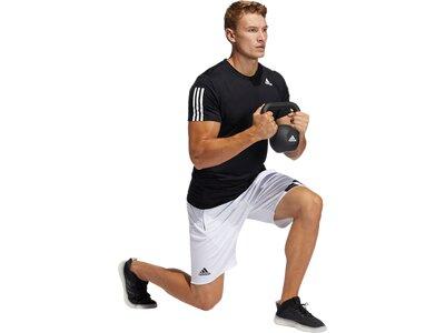 """ADIDAS Herren Trainingsshirt """"Aeroready 3 Streifen"""" Slim Fit Schwarz"""
