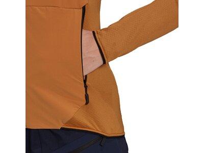 adidas Damen TERREX Skyclimb Fleece Windbreaker Braun