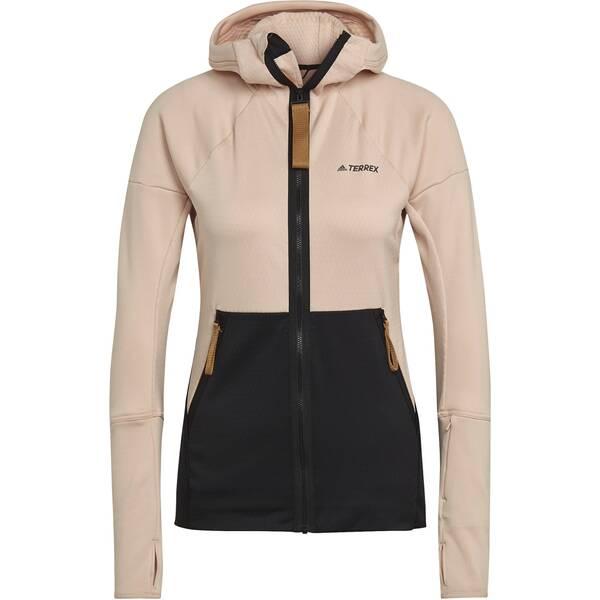 adidas Damen TERREX Tech Hooded Fleece Wanderjacke