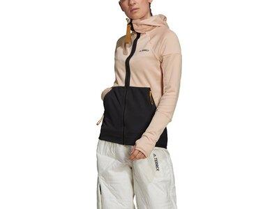 adidas Damen TERREX Tech Hooded Fleece Wanderjacke Grau