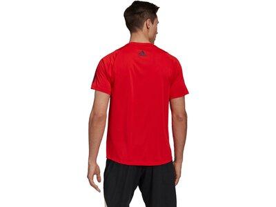 adidas Herren T-Shirt FREELIFT 3 BAR Rot
