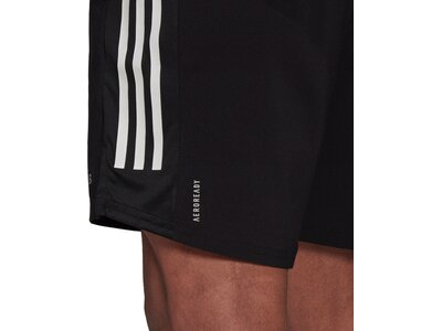 adidas Herren Own The Run 3-Streifen Shorts Schwarz