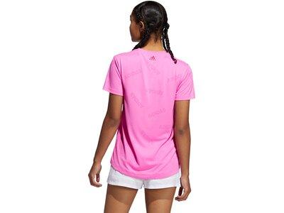 adidas Damen TRAINING AEROKNIT TEE Pink