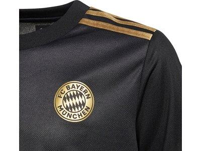 adidas Kinder FC Bayern München 21/22 Auswärtstrikot Schwarz
