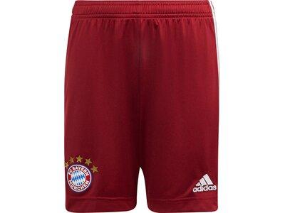 adidas Kinder FC Bayern München 21/22 Heimshorts Rot