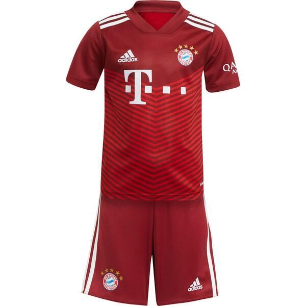 adidas Kinder FC Bayern München 21/22 Mini-Heimausrüstung