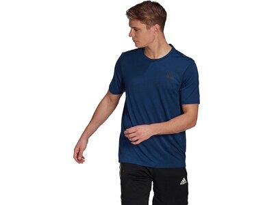 adidas Herren Primeblue Designed 2 Move Heathered Sport T-Shirt Blau