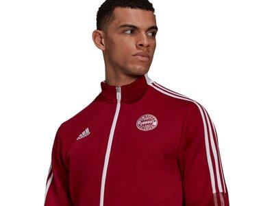 adidas Herren FC Bayern München Tiro Anthem Jacke Silber