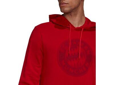 adidas Herren FC Bayern München DNA Hoodie Rot