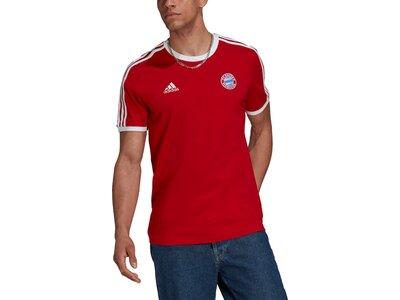 adidas Herren FC Bayern München 3-Streifen T-Shirt Rot