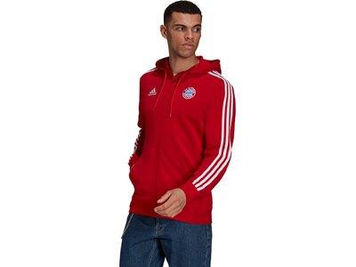adidas Herren FC Bayern München 3-Streifen Kapuzenjacke Rot