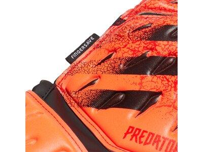 adidas Kinder Torwarthandschuhe Predator Fingersave Match Braun