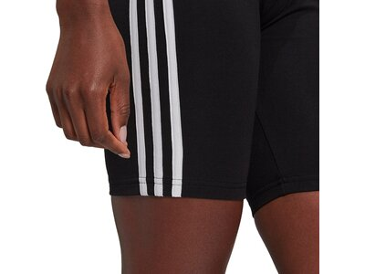adidas Damen Essentials 3-Streifen kurze Tight Schwarz