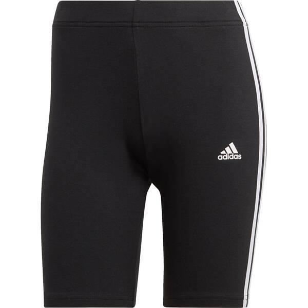 Hosen - adidas Damen Essentials 3 Streifen Radlerhose › Schwarz  - Onlineshop Intersport