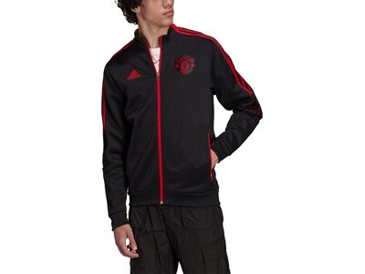 adidas Herren Manchester United Tiro Anthem Jacke Schwarz