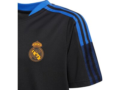 adidas Kinder Real Madrid Tiro Trainingstrikot Schwarz