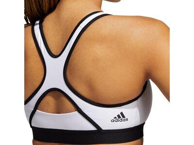 adidas Damen Believe This Medium-Support Workout Logo Sport-BH Schwarz