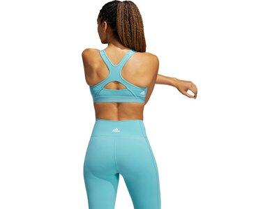 adidas Damen Believe This Medium-Support Workout Logo Sport-BH Blau
