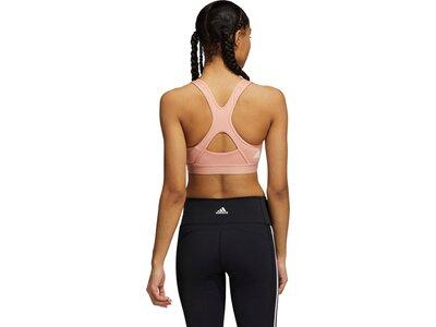 adidas Damen Believe This Medium-Support Workout Logo Sport-BH Pink