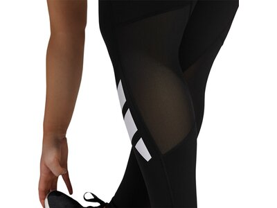 adidas Damen Techfit Long Logo Tight – Große Größen Schwarz