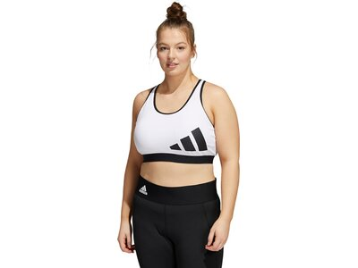 adidas Damen Believe This Medium-Support Workout Logo Sport-BH – Große Größen Schwarz